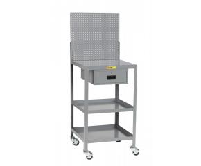 Image of Mobile Shop Desk with Pegboard