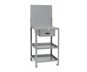 Image of Shop Desk with Pegboard