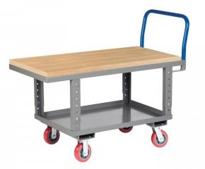 Image of Work Height Platform Truck with Butcher Block